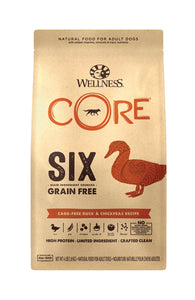 Wellness Core 6 Grain Free - Duck & Chickpeas Recipe (4lb)
