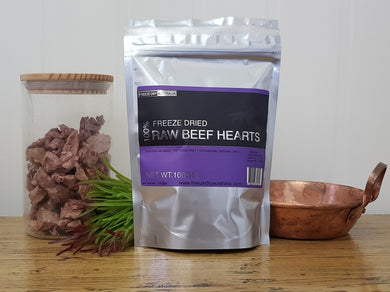 Freeze Dried Diced Beef Hearts