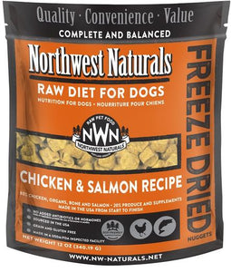 Northwest Naturals Chicken & Salmon Freeze Dried Dog Nuggets - 12oz