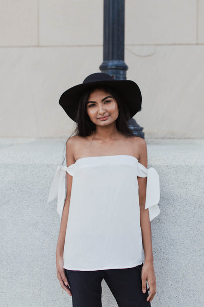 Ann Off the Shoulder - White