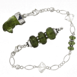Moldavite and Sterling Silver One-of-a-kind Pendulum