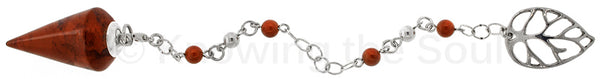 """""""Bliss"""" - Red Japser and Sterling Silver Pendulum"""