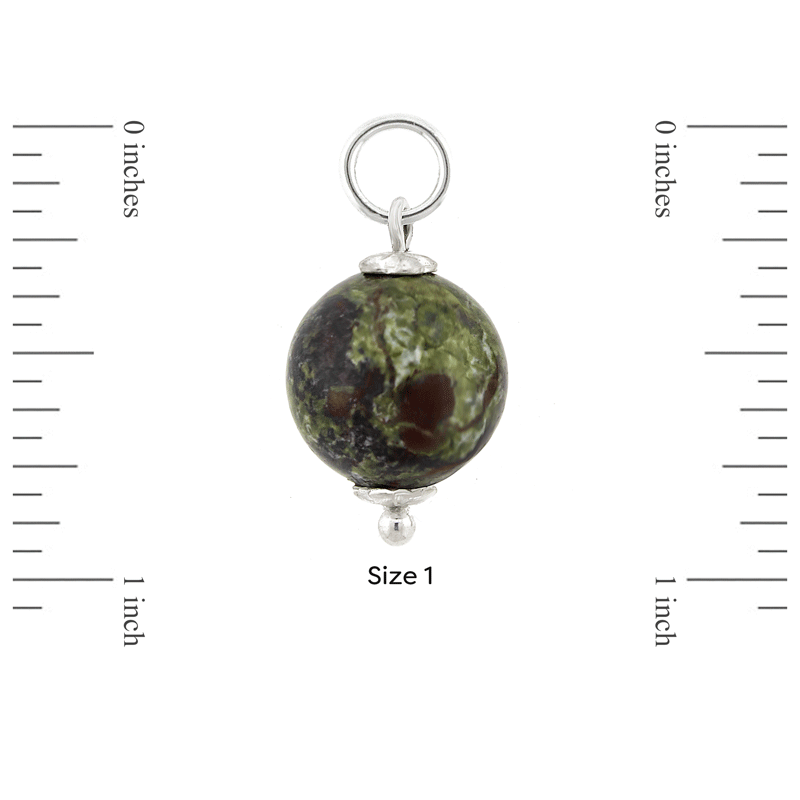 Size 1 Dragon Blood Jasper and Sterling Silver Mini-Orb by Ask Your Pendulum