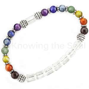 ask-your-pendulum - Seven Chakra Gem Bead Bracelet