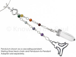 Body of Light - Clear Quartz, Multi-Gemstone, and Sterling Silver Pendulum