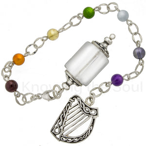 Harmony of Light - Clear Quartz, Gemstone, and Sterling Silver Pendulum