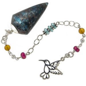 The Hummingbird - Spirit Animal Series - Apatite, Gemstone and Sterling Silver Pendulum