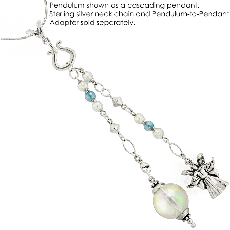 In Angel's Light - Angel Aura, Aqua Aura and Sterling Silver Pendulum
