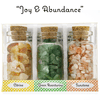 """Joy and Abundance"" 3 Bottle Set (30 mil) of Naturally Energetic Gemstones"