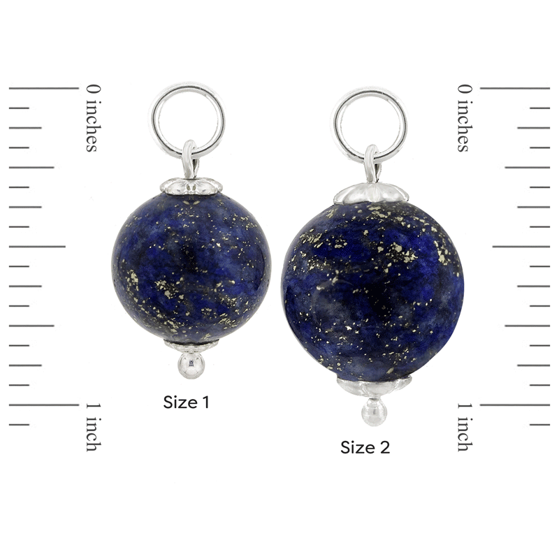 Size 1 and Size 2 Lapis Lazuli and Sterling Silver Mini-Orbs by Ask Your Pendulum