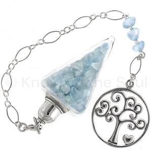 Nuggets of Wisdom - Aquamarine and Sterling Silver Pendulum