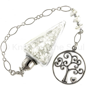 Nuggets of Wisdom - Clear Quartz and Sterling Silver Pendulum
