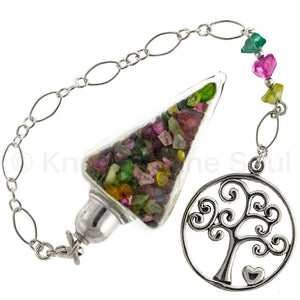 Nuggets of Wisdom - Tourmaline and Sterling Silver Pendulum