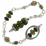 Moldavite and Smoky Quartz One-of-a-kind Pendulum Design