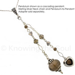 One of a Kind #117 - Smoky Quartz and Sterling Silver Pendulum