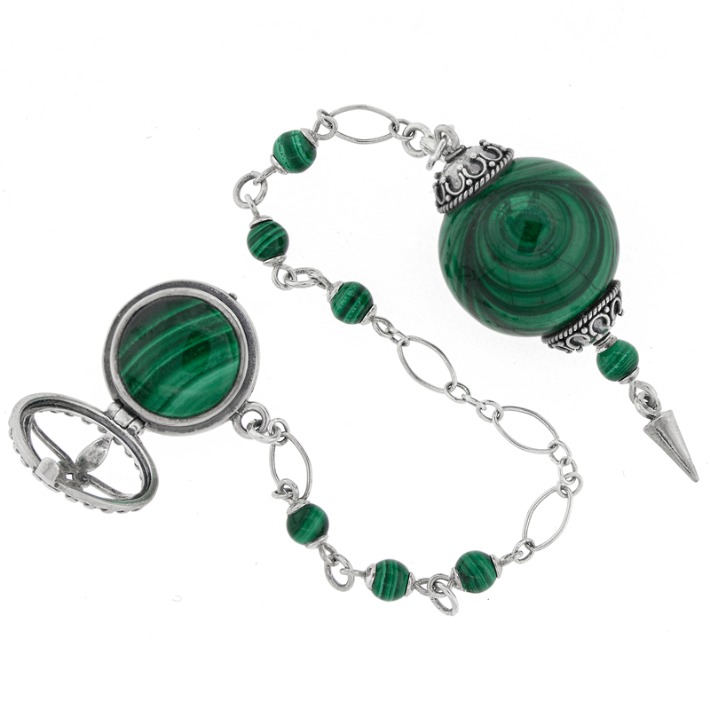 One of a Kind #203 - Malachite and Sterling Silver Pendulum
