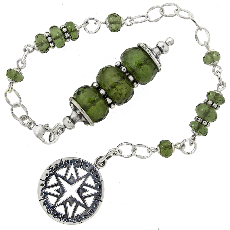 One of a Kind #233 - Moldavite and Sterling Silver Pendulum