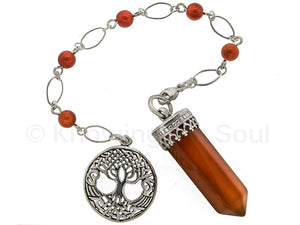 "ask-your-pendulum - ""Point of Connection"" Carnelian and Sterling Silver Pendulum"