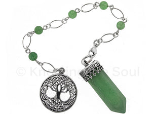 Point of Connection - Green Aventurine and sterling silver pendulum