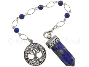 "ask-your-pendulum - ""Point of Connection"" Lapis Lazuli and Sterling Silver Pendulum"
