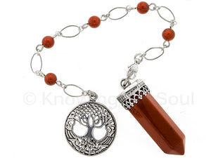 Point of Connection - Red Jasper and sterling silver pendulum
