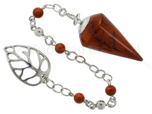 Bliss - Red Jasper and Sterling Silver Pendulum