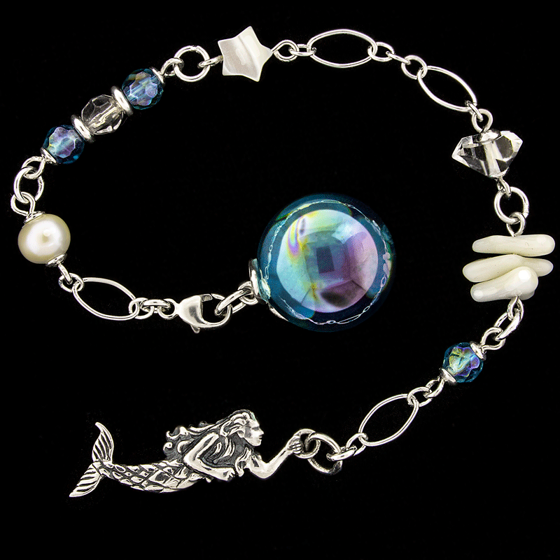 Secrets of the Mermaid - Aqua Aura, Gemstone and Sterling Silver Pendulum by Ask Your Pendulum