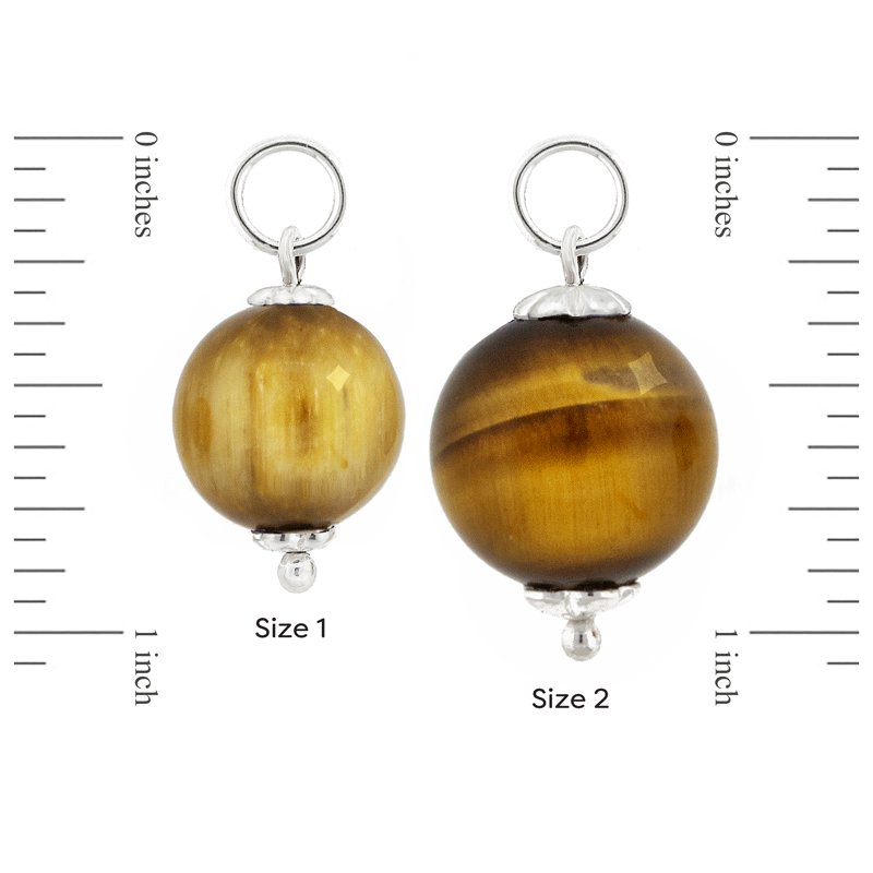 Size 1 and Size 2 Tiger's Eye and Sterling Silver Mini-Orbs by Ask Your Pendulum