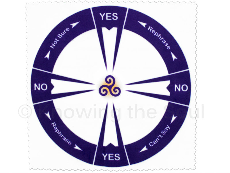 Yes no cloth pendulum chart ask your pendulum