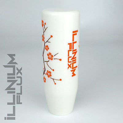 ILLINIUM FLUX ORANGE PAINTED WHITE SAKURA BLOSSOM AUTOMATIC KNOB 8X1.25 K31