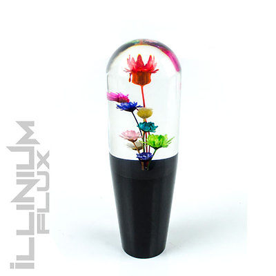 "MULTI COLOR FLOWER SHIFT KNOB FOR MANUAL SHORT THROW GEAR SHIFTER 6"" 12X1.25 K15"