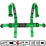 "4 POINT 2"" NYLON RACING HARNESS ADJUSTABLE SAFETY SEAT BELT BUCKLE"