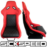 GAIJIN SERIES LEATHER DIAMOND STITCH RACING SEATS