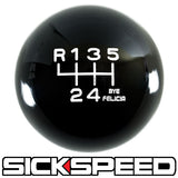 BLACK ENGRAVED SHIFT KNOB 6RUL 10X1.25 K10