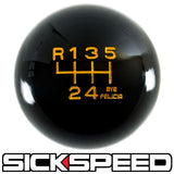 BLACK ENGRAVED SHIFT KNOB 6RUL 12X1.5 K18