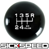 BLACK ENGRAVED SHIFT KNOB 6RUR 12x1.25 K08