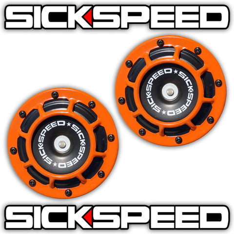 Sickspeed Black Super Loud Compact Electric Blast Tone Horn Car//Truck//SUV 12V P1 Ford Mustang