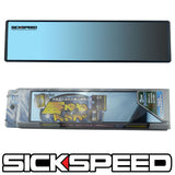 PANORAMA CLIP ON FLAT GLASS REAR VIEW MIRROR 300MM UNIVERSAL