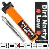 SCREW MOUNT HIGH STRENGTH RACING TOW STRAP WITH INTERCHANGEABLE BADGES