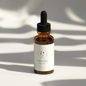 Calm Skin, Herbal Tincture Blend to promote healthy skin with Red Clover and Plantain