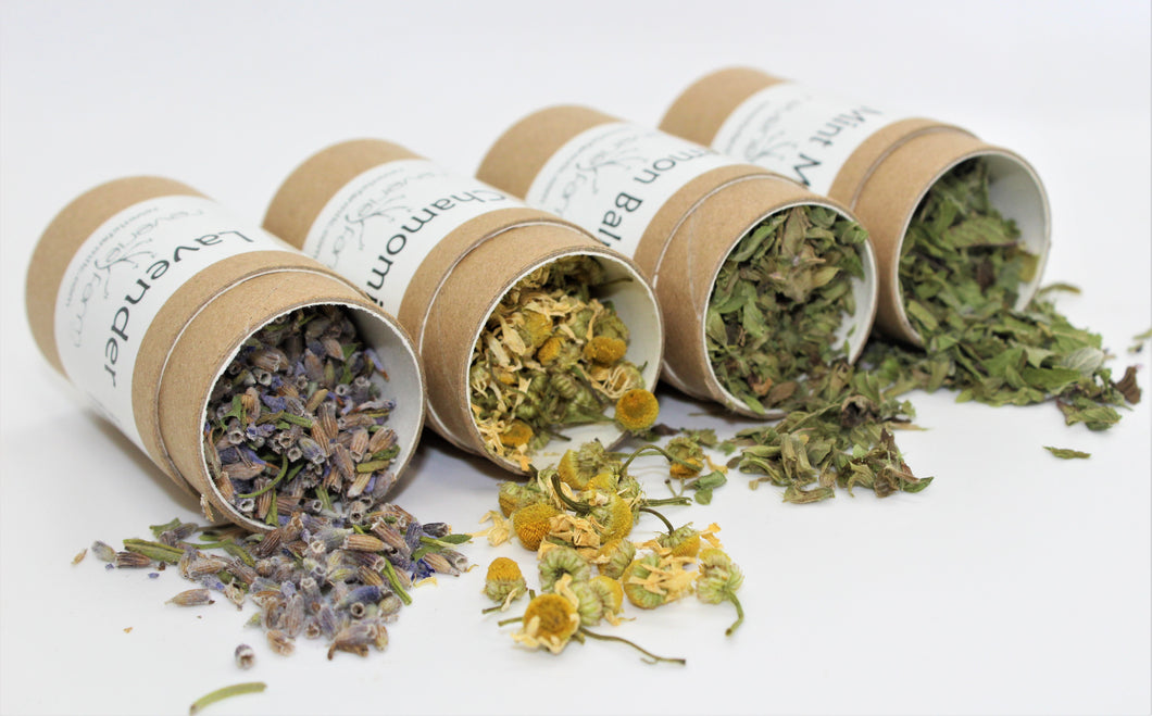Wellness Herbs Gift- CALM for stress, anxiety: Lavender, Chamomile,Mint Medley,Lemon Balm, eco-friendly recyclable organically grown USA