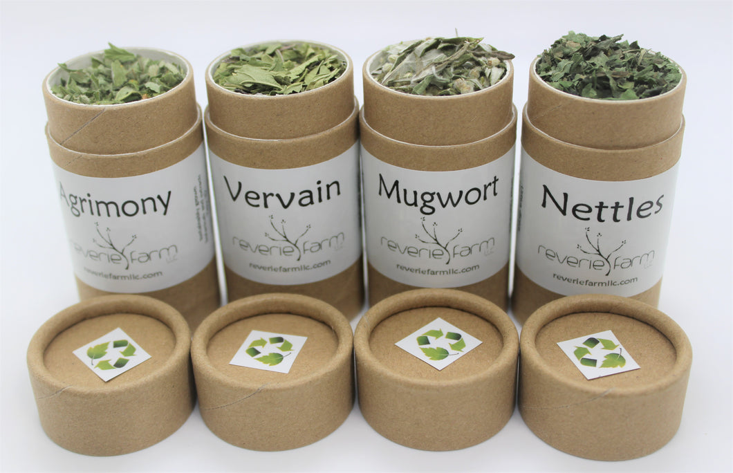 Magick Herb Gift- CEREMONY, for Wiccan,Druid, Alter, Ritual: Agrimony,Mugwort,Vervain,Nettles, eco-friendly recyclable organically grown USA