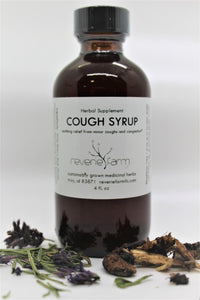 Herbal Cough Syrup, eases coughs and cogestion with Wild Cherry and Elecampane