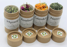 Wellness Herbs Gift- DELIGHT to pamper,relax,nurture: Rosebuds, Calendula, Hyssop, Nettles, eco-friendly recyclable organically grown USA