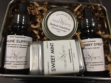 Winter Wellness Gift, Herbal GIft Tin with Immune Support, Elderberry, Salve & Tea