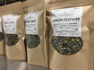 Lemon Flower: Herbal Tea with Chamomile, Lemon Balm, Lavender, Stevia USA organic farm grown
