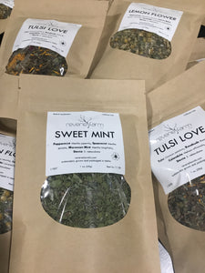 Sweet Mint, Herbal Tea with Peppermint, Spearmint, Moroccan Mint, Stevia USA organic farm grown