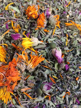 Tulsi Love, Herbal Tea with Tulsi, Holy Basil, Rosebuds, Calendula USA organic farm grown
