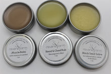 Herbal Salve Gift Tin- Black Seed, Herbal Chest Rub and Muscle Balm salves, fresh organic herbs