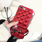 Luxury 3D Silicone Lovers Phone Cases For IPhone 7 Plus 6 6s Plus